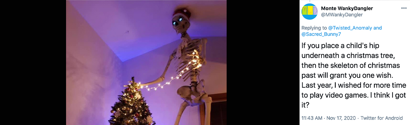 Home Depot's Twelve-Foot Skeletons Are Now Used As Christmas Decor