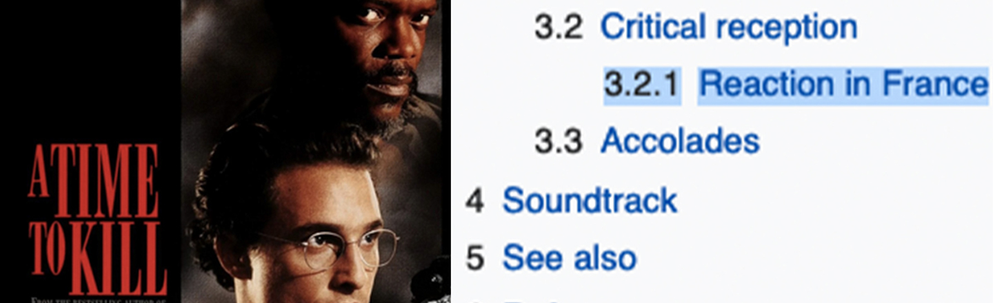 The Wikipedia Page For 'A Time To Kill' Hides A Bonkers Controversy