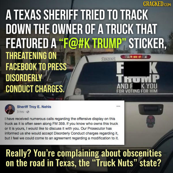 The ACLU Should Use Truck Nuts As A Free Speech Precedent