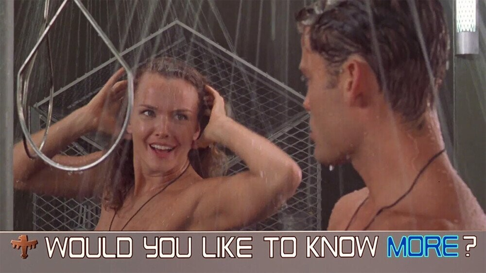 The Funny Arrangement Of The 'Starship Troopers' Shower Scene