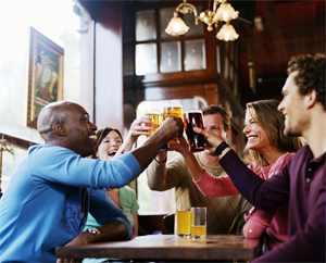They thought they told you: They're beer lovers, not beer fighters.