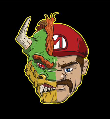 2 New Shirts for Mario Bros., 'Street Fighter,' & Movie Fans