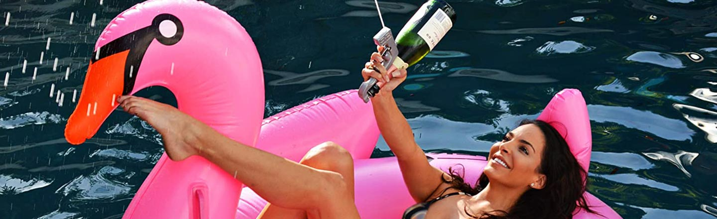 Beer From a Super Soaker? No. Champagne From the Bottle.