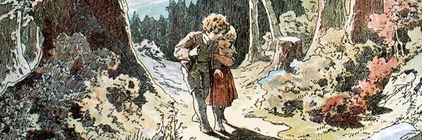 Illustration of Hansel and Gretel