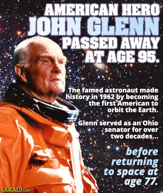 Astronaut John Glenn has died