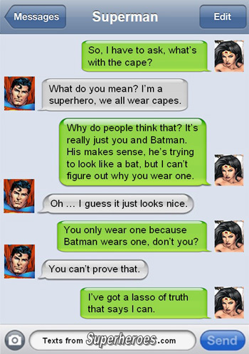 15 Texts from Last Night (From Famous Superheroes) Pt. 2