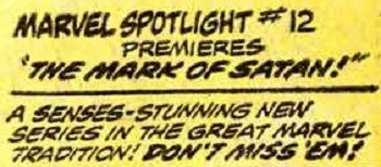 Ad for Marvel's Mark Of Satan comic