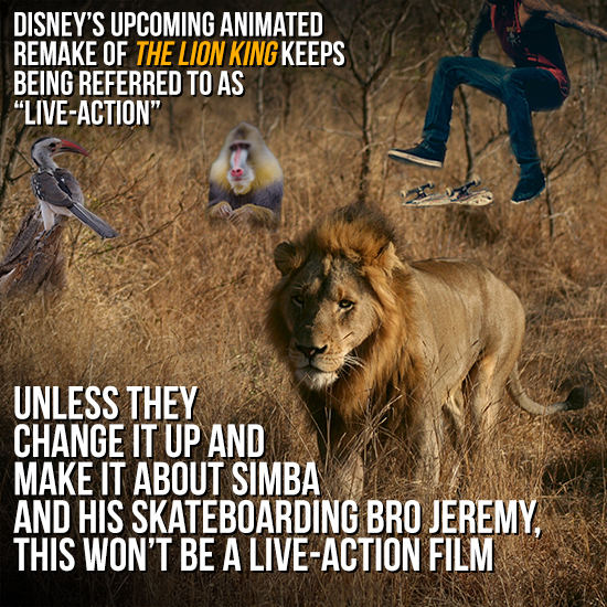 Is 'The Lion King' Live-Action If There Are No People In It?