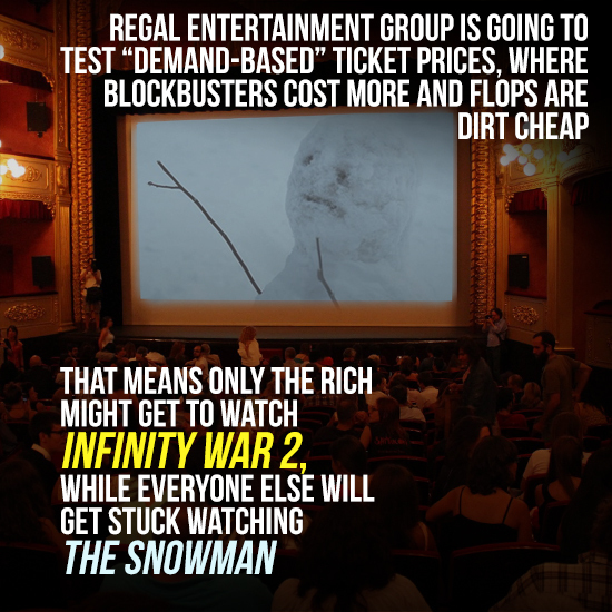 Regal's Dynamic Ticket Fees Could Cause A Class Divide