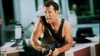 4 Dumb Movie Tropes We've Been Conditioned Not To Notice Bruce Willis in Die Hard
