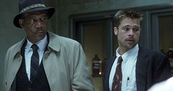 4 Dumb Movie Tropes We've Been Conditioned Not To Notice Morgan Freeman and Brad Pitt in Se7en