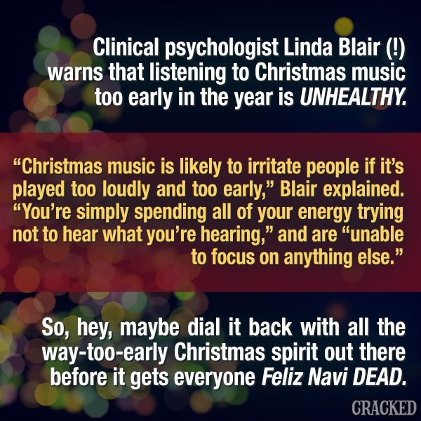 A Psychologist Says Early Christmas Music Is Unhealthy