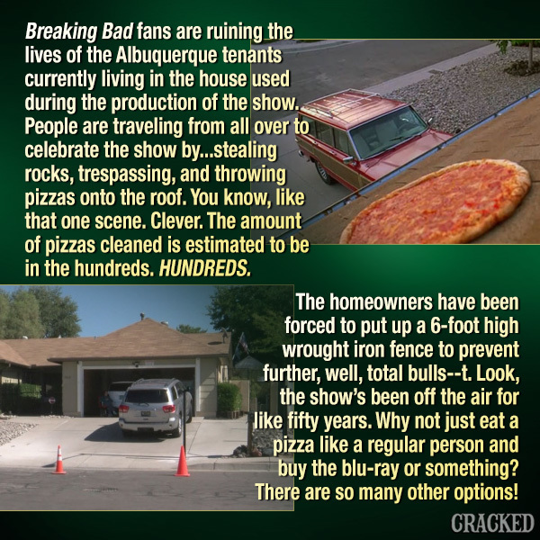 Owners Of Breaking Bad Home Install Anti Pizza Fence