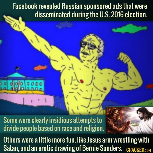 Russian Trolls Used Satan Arm Wrestling Jesus As Propaganda