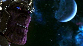 3 Big Reasons Comics Creators Don't Make Much From Superhero Movies - Thanos's face in the last scene of the Avengers