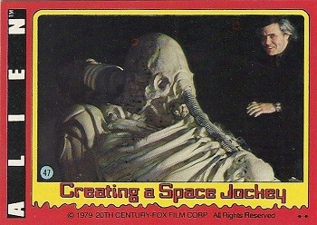 7 Huh? Pieces Of Movie Merchandise Nobody Asked For - Alien trading cards