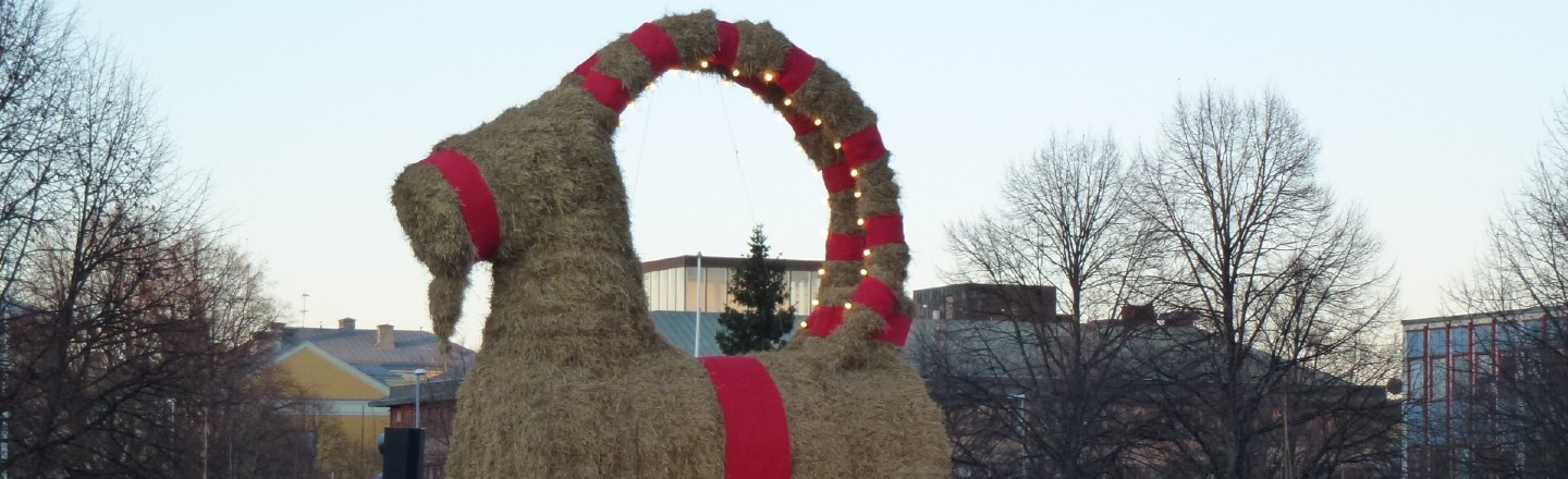 Arsonists Have Burning Down a Swedish Town's Yule Goat (For Over 50 Years)