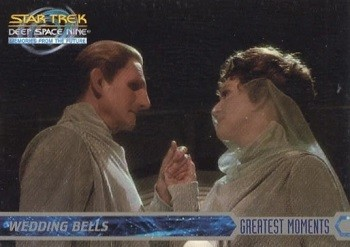 7 Huh? Pieces Of Movie Merchandise Nobody Asked For - trading cards depicting the Star Trek: Deep Space Nine character Odo