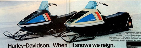 5 Huge Companies That Once Were Failing Miserably - the Harley-Davidson Snowmobile