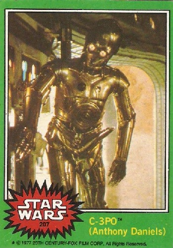 7 Huh? Pieces Of Movie Merchandise Nobody Asked For - the bawdy C-3PO card where you can see his metal penis