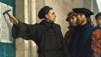 Butts And Poop Were An Obsession For Renaissance Geniuses | Martin Luther nailing 95 Theses to church door