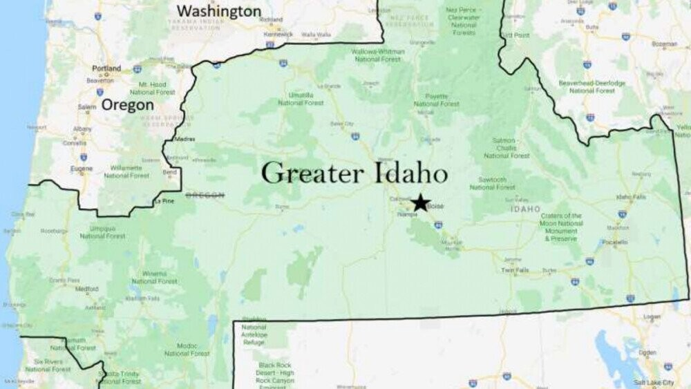Idaho Lawmakers Heard Pitch About Taking Over 3/4 of Neighbor Oregon, Potentially Parts of California and Washington