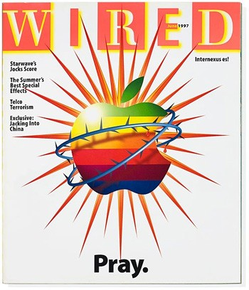 5 Huge Companies That Once Were Failing Miserably - Wired Magazine's cover predicting the death of Apple