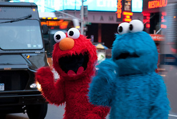 Alternately, you could tell them that their Elmo costume looks like something from a David Lynch fever dream.