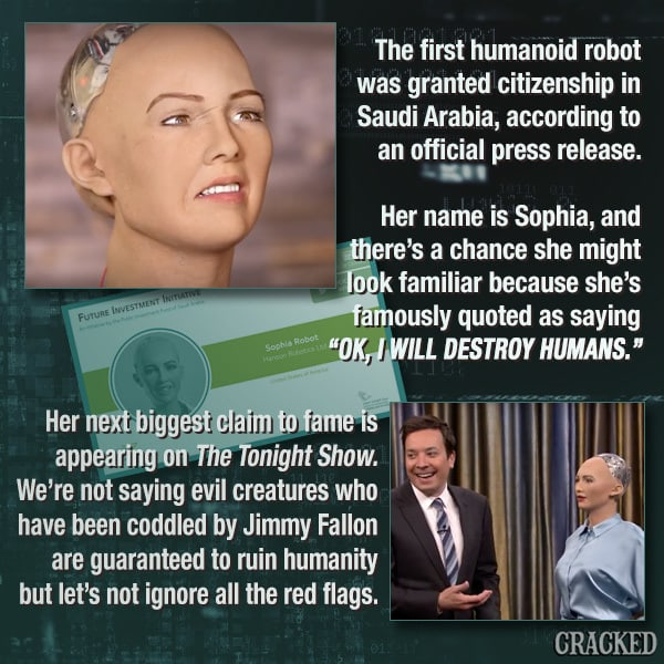 Sophia The Terrifying Robot Gained Citizenship