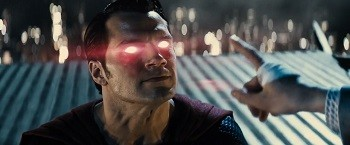 4 Superman Movie Scenes That Were Dumb AF In Retrospect Superman eyes glowing red