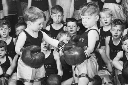 <i>In the Navy! Yes, you can sail the seven seas. In the Navy! Our boxing league's for under-threes!</i>