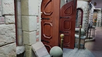 This door doesn't lead to the outside. None of the doors lead to the outside.