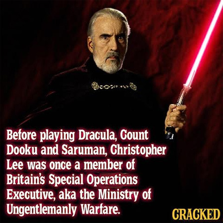 Crackedoids: Christopher Lee Is a Badass Edition