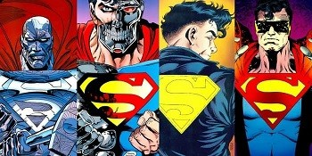 4 Reasons Anyone Who Says Superman Is A Boring Superhero Is Full Of It  the four supermen from death of superman