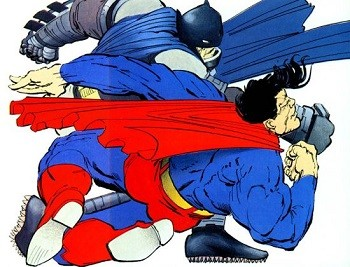 4 Reasons Anyone Who Says Superman Is A Boring Superhero Is Full Of It batman punching superman in the dark knight returns