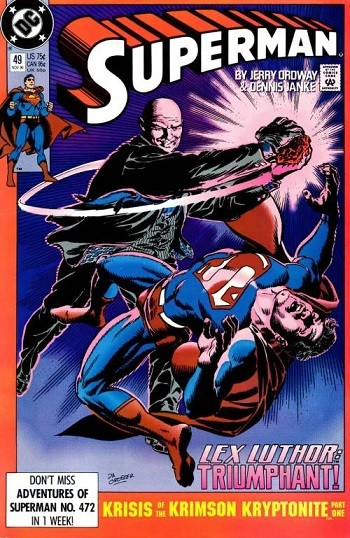 4 Reasons Anyone Who Says Superman Is A Boring Superhero Is Full Of It  Lex Luthor punching Superman