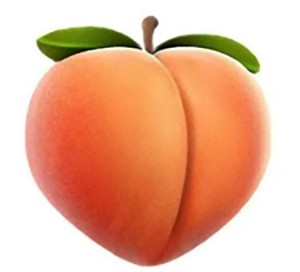 High quality image of a peach emoji