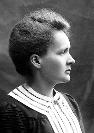 4 Famous Historical Figures (Who Were Doin' It Nonstop) - photo of Marie Curie in profile