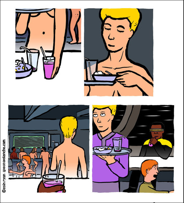 Best View on the Starship Enterprise [COMIC]