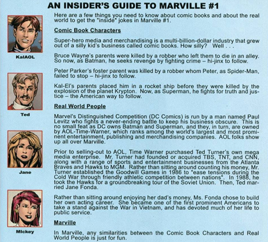 AN INSIDER'S GUIDE TO MARVILLE #1 Here are a few things you need to know about comic books and about the real world to get the