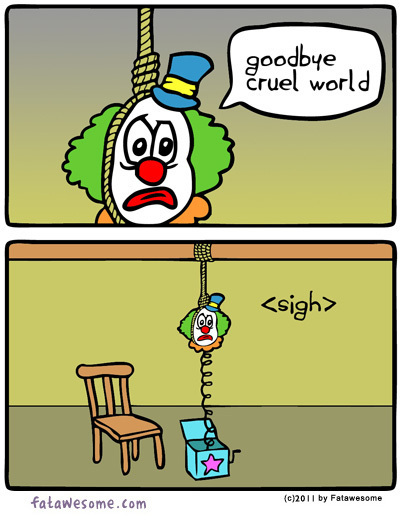 The Saddest Clown of All [COMIC]