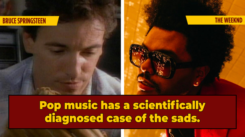 Surprise, Surprise: Pop Music is Getting Sadder