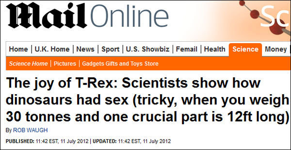 Why Journalism Is Screwed (And Obsessed With Dinosaur Sex)
