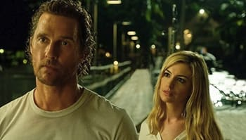 McConaughey and Hathaway, seen here wondering where it all went wrong.