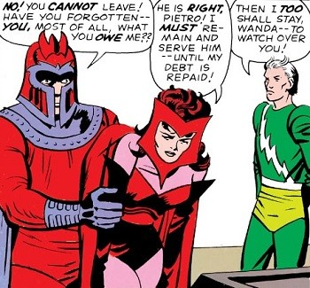 5 Real-But-Bananas Plots You Won't See On Wandavision Magneto with Scarlet Witch and Quicksilver