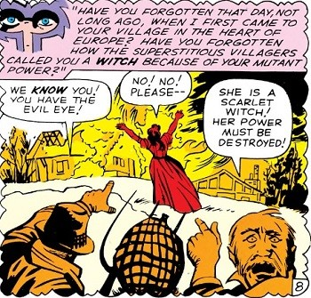 5 Real-But-Bananas Plots You Won't See On Wandavision Magneto saving Scarlet Witch from villagers