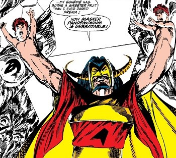 5 Real-But-Bananas Plots You Won't See On Wandavision Master Pandemonium with the children of Wanda Maximoff for hands