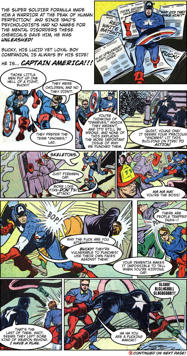What If Captain America Was Insane? A Comic Book Rewrite