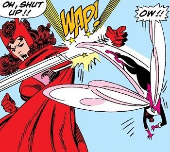 5 Real-But-Bananas Plots You Won't See On Wandavision Wanda slapping the Wasp