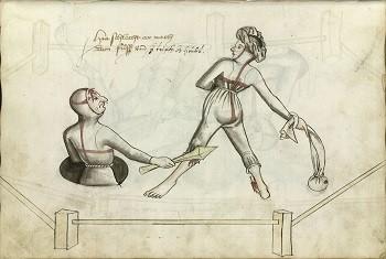 Средневековые дуэли при разводе были дикой (но справедливой) потасовкой